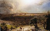 Frederic Edwin Church Jerusalem from the Mount of Olives painting